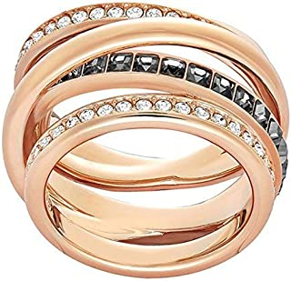 Swarovski 51842 Women's Ring Transparent Glass rosegold/schwarz