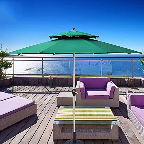 LKP Parasol Jardín, Sombrilla De Patio, Aluminio, Protector Solar, con Manivela, Grande Parasol De Terraza para Playa Piscina Bar Balcon