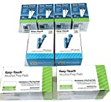 EasyTouch Diabetes Refill Kit 200-200 Test Strips, 200 30g Lancets & 200 Prepads