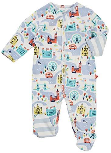 Piccalilly London Theme - Pijama para bebé con pies, algodón orgánico, recuerdo británico, regalo para recién nacido
