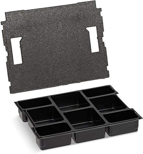 Bosch Sortimo Kleinteileeinsatz | Mit 8 Fächern inkl. Deckeneinlage | Sortimentskasten Einsatzboxen | Ideal als L-Box 102 Einsatz | Sortierbox