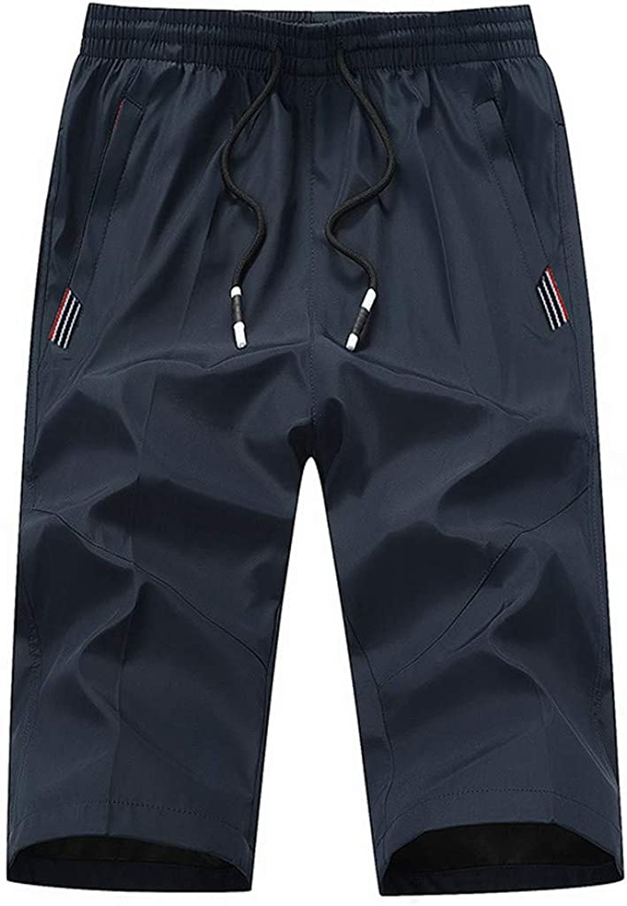 MODOQO Men's Shorts Casual Outdoor Big and Tall Solid Summer Pants for Surfing Beach