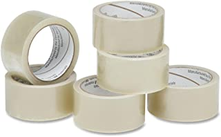 SKILCRAFT 7510-01-579-6871 Polypropylene Economy Grade Package Sealing Tape, 55 Yards x 2-Inch, 1.9 mil Thick, Clear (Pack...