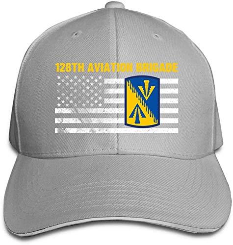 Moruolin 128th Aviation Brigade Adjustable Baseball Caps Vintage Sandwich Cap