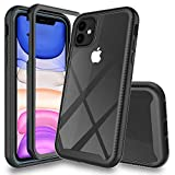 UYMO iPhone 11 Hlle, Transparent 360 Grad Schutz Stofest Case Robust Handyhlle 2-in-1-Design...