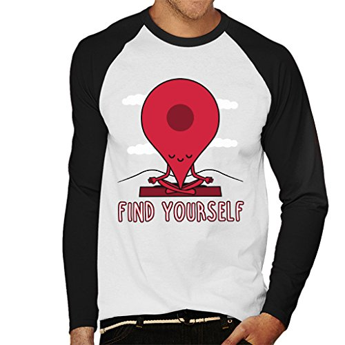 Cloud City 7 Google Maps Pin Fin Yourself Heren Baseball Long Sleeved T-shirt