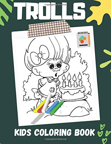 Trolls: World Tour Coloring Book Trolls 2 coloring book for kids