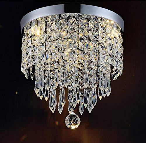 LightInTheBox Lámpara de techo colgante de bola de cristal de araña moderna de 40 W con montaje empotrado E26/E27 para salón/dormitorio/comedor/estudio