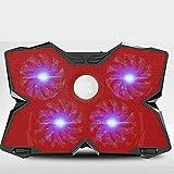 Portátil for juegos, disipador de calor universal de uso general, base de placa de ventilador de 15,6 pulgadas y 17 filas Base 14 Ventilador de sonido de enfriamiento de viento frío, 40,8 * 28,7 * 2,9
