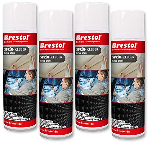 SPRÜHKLEBER 4x 500 ml extra stark (7553.4) Klebstoff Kleber Sprühleim Sprühkleber Klebspray Sprühklebstoff Spraykleber - BRESTOL