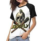 maichengxuan Soulfly (4) Shirt Camiseta Ligera de béisbol de Manga Corta para Mujer