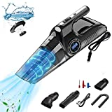 Handheld Car Vacuum Cleaner, JENABOM 4 in 1 Portable Hand Held Vacuum Cleaner, DC 12V High Power Suction Corded Car Vacuum Cleaner LED Light Display, Lightweight Wet Dry Hand Vacuum for Home/Pet/Car