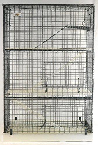 Chinchilla- / Ratten- / Degukäfig, mit 3 Ebenen