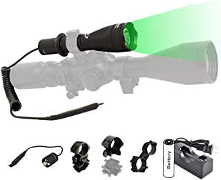 Orion H30 Green or Red Premium 273 Yards Predator Hog Varmint Hunting Flashlight Light Kit with Remote Pressure Switch, Rechargeable Battery and Charger