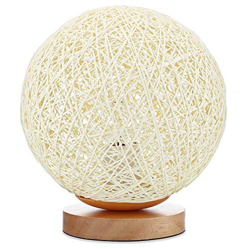 Modern design originele rotan bal nachtlampje tafellamp voor bruiloft vakantie kerstdecoratie verlichting bureau lamp ontwerp