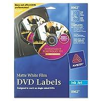 Inkjet DVD Labels, Matte White, 20/Pack (並行輸入品)