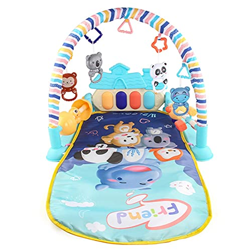 5-in-1 Play Mat Baby Crawling Rug Play Mat Music Toy Music Activity Mat Portable Play Mat for Boys and Girls Between 3-6-12 Months (83 55 47 cm)