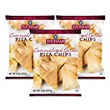 Toufayan Bakeries, Caramelized Onion Pita Chips, Cholesterol Free, No Trans Fat, 4g of Protein, Certified Kosher Dairy (8oz Bags, 3 Pack)