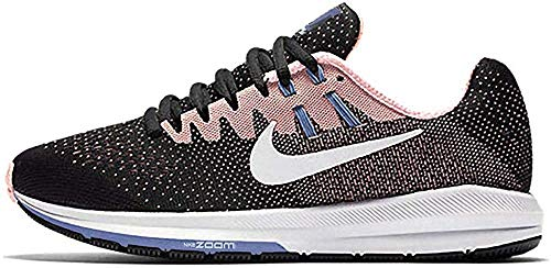 Nike Wmns Air Zoom Structure 20, Sneakers Mujer, Black Lava Glow Chlorine Blue White, 42 EU