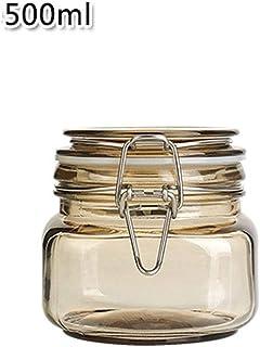 Set 3 Uds 9,5 cm Bamb/ú 700 /& 1000 ml Silicona Envases de Cristal para 500 Relaxdays Recipientes para Guardar Alimentos Vidrio