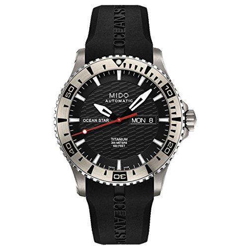 Mido Herren-Armbanduhr XL Ocean Star Analog Automatik Kautschuk M0114304705102