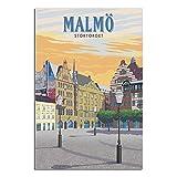 ASFGH Malmö Stortorget Schweden Vintage Reise Poster Dekor