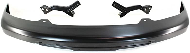 Bumper compatible with Chevrolet Colorado/GMC Canyon 04-12 Front Bumper Impact Bar Black w/Bracket