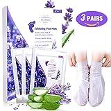 3 Pairs Masque Pied Peel, MEOWMEE Exfoliating Foot Mask pour Soft Tender Feet Démaquillant Exfoliant Peeling Off Peau Morte et...