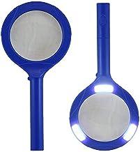 Brillar BR0044-navy BR0044-navy COB LED Light UP Magnifying Glass Super Bright Wide 180 Degree Beam Reading, Navy