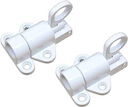 Automatische Sluitgrendel Bout Zilver, Aluminium Automatische Lente Klink, Veiligheid Pull Ring Spring Deurslot met Bevest...