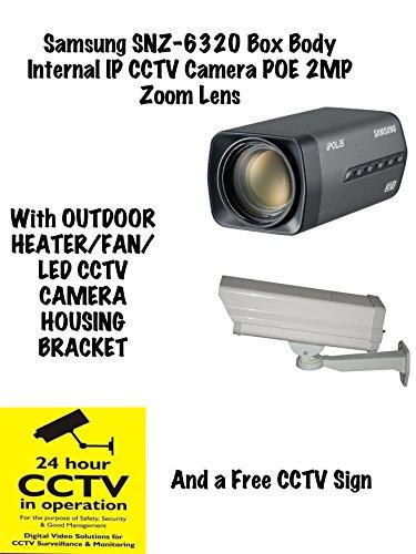 Samsung SNZ-6320 Box Lichaam Interne IP CCTV Camera Met Outdoor Camera Beugel & GRATIS CCTV Teken
