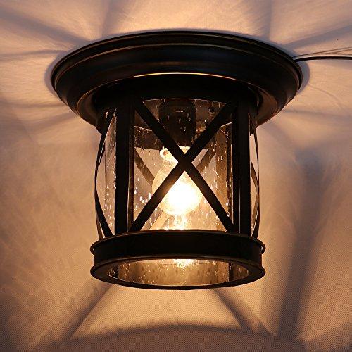 AA Warehousing EL5041IB 1 Ceiling Mounted Imperial Black Outdoor Light