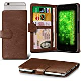 Fone-Case (Brown) Archos 50f Helium Case Clamp Style Wallet
