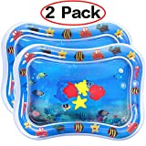 "Dreampark 2 PCS Inflatable Tummy Time Premium Water Mat for Infants & Toddlers, Activity Center Your Baby's Stimulation Growth Baby Toys 6 to 12 Months 26""x20"""