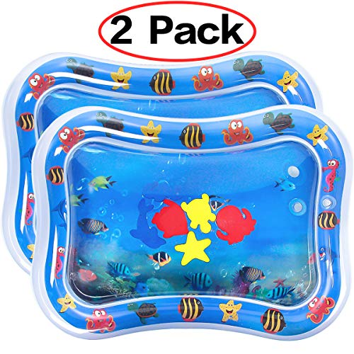 Dreampark 2 PCS Inflatable Tummy Time Premium Water Mat for Infants & Toddlers, Activity Center Your Babys Stimulation Growth Baby Toys 6 to 12 Months 26