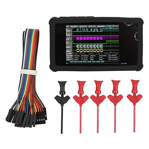 LA104 Logic Analyzer 4CH 100 MHz 2,8-Zoll TFT LCD Bildschirm Tragbarer digitaler Logikanalysator Protokollanalysefunktion Einstellen