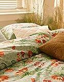 ESSENZA Biancheria da letto Femm Fiori Rosmarino, 200 x 200 cm + 2 x 80 x 80 cm