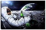 Dream-Arts Astronaut auf Mond Motiv auf Leinwand im Format: