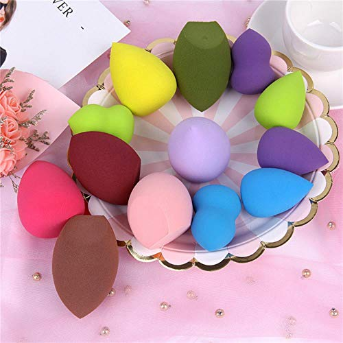 VIE Makeup Sponge Cosmetic Powder Puff Smooth Women Girls Makeup Foundation Sponge Beauty 19 Colors,Random 1pc