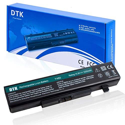 DTK Batería para Ordenador Portátil Lenovo Y480 Y480A Y485 Y580 Y585 G480 G485 G580 G585 Z380 Z480 Z580 Z585 (11.1v 4400mah) batería del Cuaderno