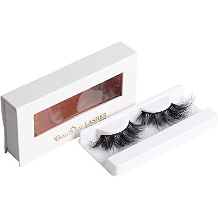 BEAUTY CAT 3D False Mink Eyelashes Long Size No. 005 NEWYORK for Full Long Dramatic and Natural Look with Comfortable Wearing Strip Lashes by Handmade, Soft & Light Weight Fluffy Faux Eyelash with Luxury Packaging Box for Eye Makeup and Reusable from South Korea