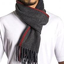 Alpine Swiss Mens Plaid Scarf Soft Winter Scarves Unisex,Red Stripe,One Size