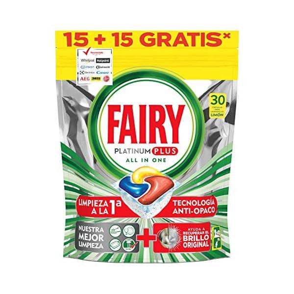 Fairy Platinum Plus Limón (15 + 15) Cápsulas para Lavavajillas