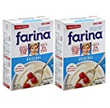 Farina Hot Wheat Cereal -18 oz, (Pack of 2)