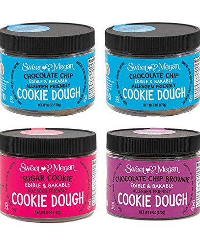 Sweet Megan Edible Cookie Dough Variety pack 6oz -4pk