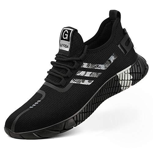 [Aoop] メンズ 安全靴 作業靴 ハイカット おしゃれ スニーカー メッシュ 鋼先芯 滑り止め セーフティーシューズ 軽量 通気性 耐摩耗 絶縁 ワーキングシューズ レディース 2002/39