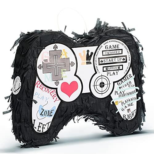 2 Piñatas de Controlador de Videojuegos para Suministros de Fiestas de Cumpleaños de Adolescente con Bucle Colgante Pinatas para Fiesta de Juegos Decoración de Cinco de Mayo Favor de Fiesta