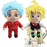 The Seven Deadly Sins Plush Toys-8' Hawk Ban Meliodas Soft Plush for Anime Fans (Meliodas +Ban)
