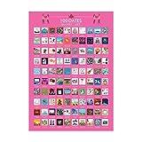 Wopohy Lista de Carteles de rascar - 100 Cosas Que Hacer Lista de Citas Póster de rascar | Carteles de Lista de Cubos para rascar del día de San Valentín: Mejor Papel Tapiz con Foto de Cita