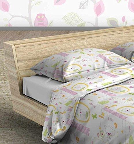 Milana Baby Bettwäsche Set 100x135 3tlg Pink Jacadi (Bettbezug 100x135, Kissenbezug 40x60, Bettlaken 100x150)